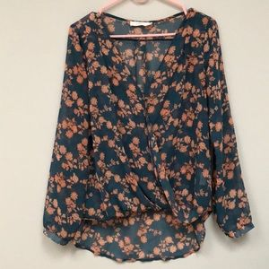 Sheer Lush front twist Top